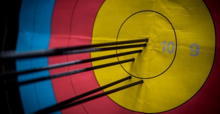 Archery coaching archery target